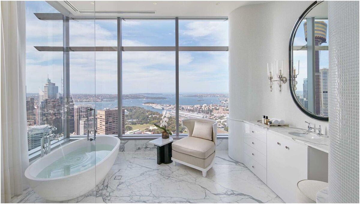 Salle de bain chic et confortable